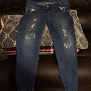 Of navy pre owned jeans